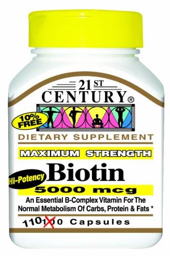 21st Century Biotine 5000 mcg, capsules 110-Comte