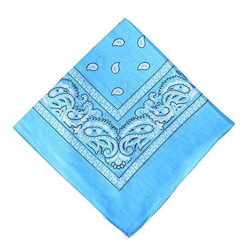 Alotpower 6 Pack Gift Wrap Bandanas Bandana Wreath for Daily Use,Light Blue (Bandana Wreath)