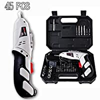 Candora 45PC Household Cordless Reversible Rechargeable Drill Bit 4.8V Electric Screwdriver Power Driver Tool