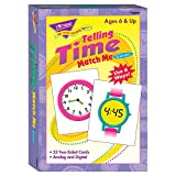 Trend Enterprises Telling Time Match Me Cards Game (52 Piece)