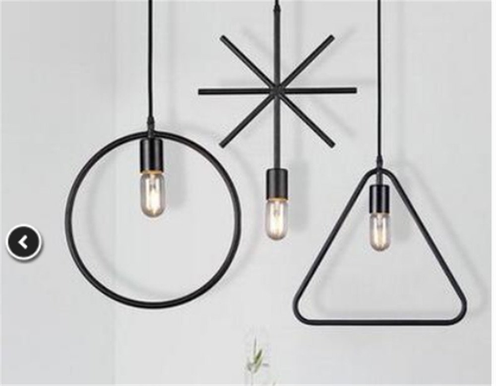 BGmdjcf Iron Chandeliers Geometry Desktop Office Chandeliers Clothing Lady Small Personality Industrial Restaurant And Bar Wind Creative Lof, Disk Combination Ceiling Disc200