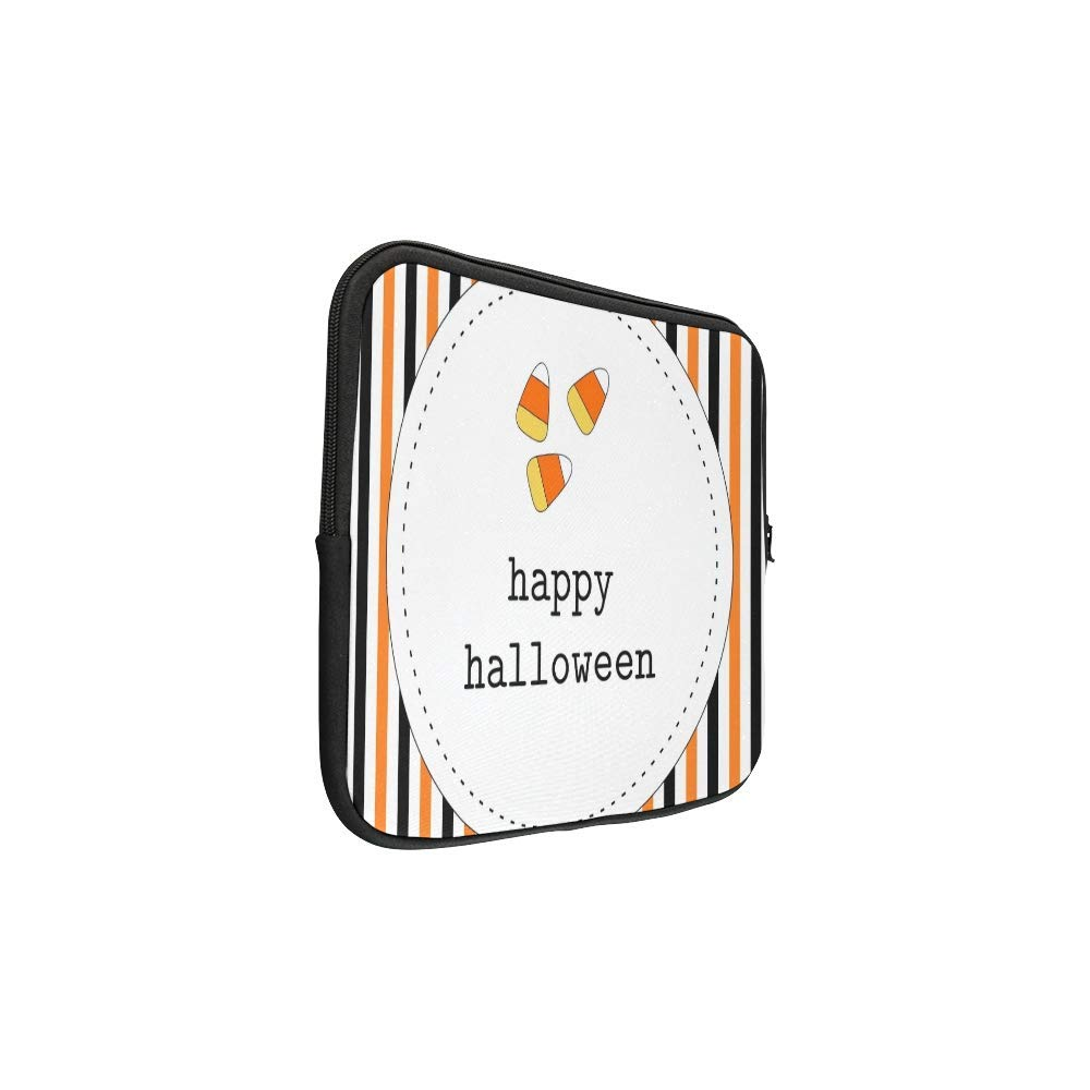ASKSWF bolsa de ordenador portátil Design Custom Greeting Card Halloween Orange Black Sleeve Soft Laptop Case Bag Pouch Skin for Air 15inch(2 Sides): ...