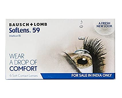 d8e195fbee9 Buy Bausch   Lomb Soflens 59 Contact Lense - 6 Pieces (-2.5) Online at Low  Prices in India - Amazon.in