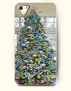 OOFIT iPhone 5 5s Case - Merry Xmas Blue And Green Xmas Tree