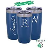 Be Burgundy - Set of 6 - Polar Camel Personalized Tumbler 20 oz. w/Clear Lid |9 Different Design | Engraved Powder Coated Cups with Double-Wall Vacuum Sealed Sweat Free - Q6 - Heat & Cold - Royal