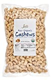 Raw Organic Cashews 2 lb Bag - by Jiva Organics (100% Pure Whole Nuts, Unsalted)