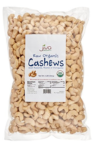 (Raw Organic Cashews 2 lb Bag - by Jiva Organics (100% Pure Whole Nuts, Unsalted))