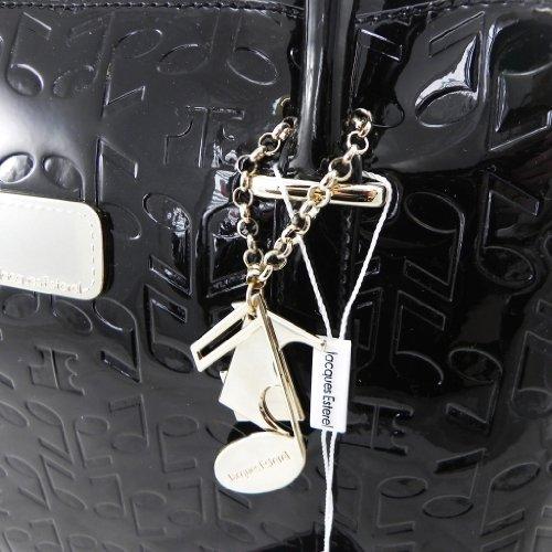 Bolsa de cuero 'Jacques Esterel' notas de la música lacado negro.