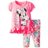 Disney Baby Girls' Minnie Mouse Legging Set  Hot Pink