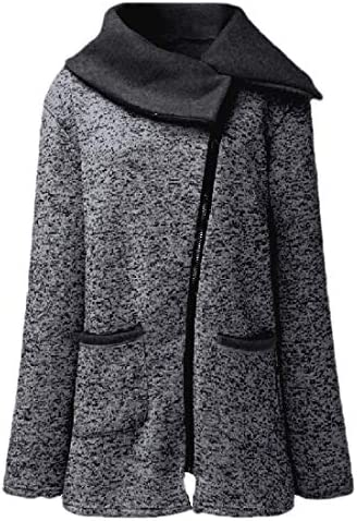 Womens Fall Winter Long Sleeve Oblique Zipper Fleece Coat
