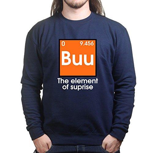 [Mens Buu Boo Halloween Funny Costume Sweatshirt S Navy Blue] (Buu Costume)