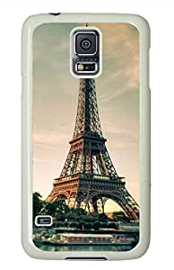 Eiffel Tower 11 White Hard Case Cover Skin For Samsung Galaxy S5 I9600