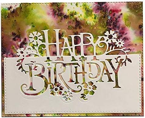 Happy Birthday Metal Cutting Dies Stencils Scrapbooking Paper Card Album DIY
