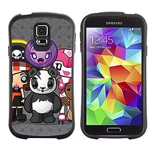 Hybrid Anti-Shock Bumper Case for Samsung Galaxy S5 / Cute Creatures Panda