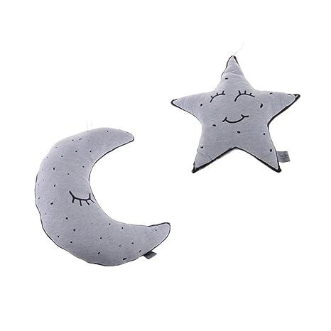 IPOTCH Cojín Luminoso en Oscuridad Forma Estrella y Luna ...