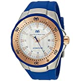Technomarine Men's 'Manta' Automatic Stainless Steel and Silicone Casual Watch, Color:Blue (Model: TM-215091)