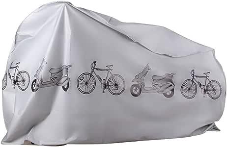 EZONTEQ Funda para Bicicleta Impermeable, Funda de Proteccion Bicicleta Bici Moto Cubierta a Prueba de Polvo Sol Lluvia Agua UV Rayos Ultravioleta (Gris 210x100cm): Amazon.es: Deportes y aire libre