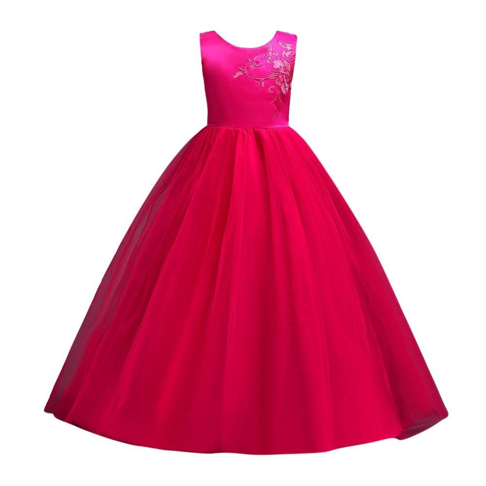 Hougood Mä dchen Kleid Prinzessin Kleid Tanzkostü me Tanzkleidung Stickerei Abendkleid Ballettkleid Party Prom Formelle Anlä sse Kinder anziehen Sommerkleid Alter 4-15 Jahre