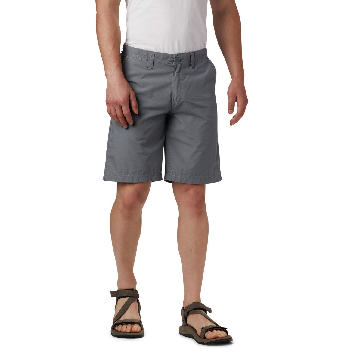 Columbia Men's Washed Out Chino Short, Grey Ash, 34x8 by Columbia