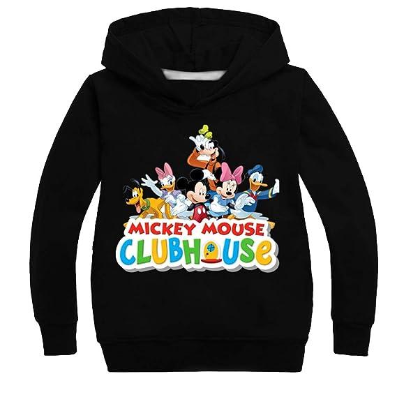 JUNMAONO Mickey Minnie Mouse Sudadera Abrigo Niño Capa Casual Cardigan Ropa Manga Chica Larga Remata Abrigo Chaqueta Puente Capucha Vestido Chalecos Blazers ...
