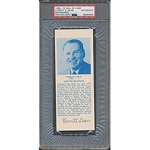 1968 74 Hof Bookmarks Everett S. Dean PSA/DNA Certified Certified Certified Autographed *3976