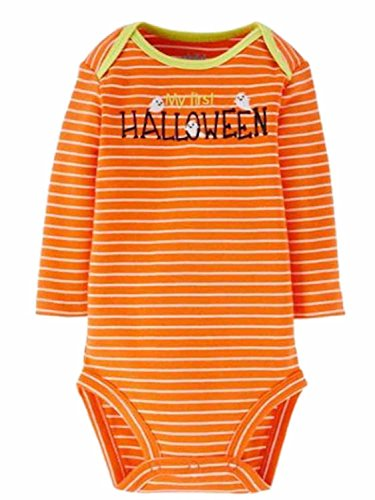 Carter's Embroidered My First Halloween Baby Bodysuit Dress Up Outfit (Newborn) (First Halloween Outfit)