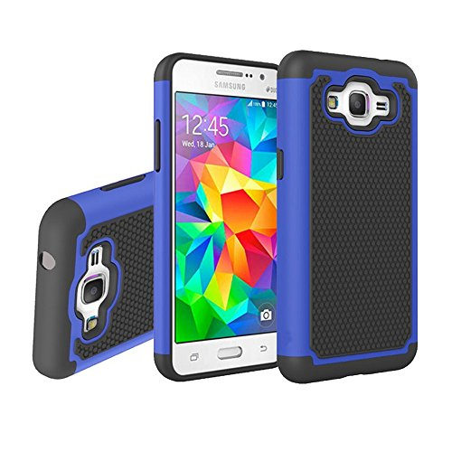 Galaxy Grand Prime Case, G530 Case, NOKEA [Shock Absorption] Drop Protection Hybrid Dual Layer Armor Defender Protective Case Cover for (G530 G530H G530F G530M G530T G530AZ S920C) (Blue)
