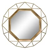 Stonebriar Geometric Wall Mirror, 30 x 30, Gold