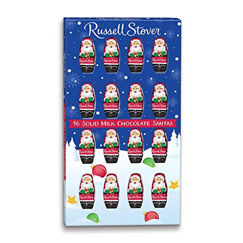 Russell Stover Solid Milk Chocolate Santas, 4 oz. - Milk Solid Chocolate Gift Box