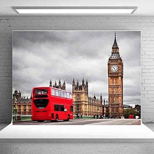 MEETS 7x5ft London Landmark Backdrop Big Ben Backdrop Photo Booth Studio Props Theme Party YouTube Backdrop MT447