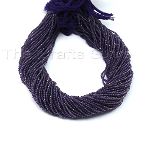 - AAA +++ 1 Strand 2mm-2.5mm Amethyst Micro Faceted Beads Stone Facet Tiny Rondelles 13 inch Strands # Gs0019