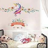 #10: Unicorn Wall Decor Sticker Decals Girls Bedroom Wall Stickers Nursery Room Wall Decor -Lovely Unicorn Gifts for girls