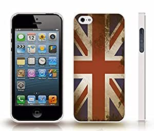 Case For Sam Sung Galaxy S5 Cover with U.K. Antique Flag , Snap-on Cover, Hard Carrying Case (White)