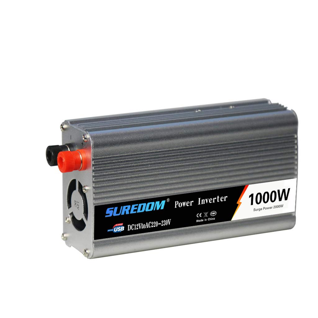 SLOUD 1000W Power Inverter/ 12V DC to 110-220V AC Car Converter Charger Adapter USB Port and AC Outlets Quick Charging-1000w by SLOUD