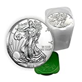 US Shipping 1 oz Silver American Eagle Coins BU (Lot, Roll, Tube of 20) offers