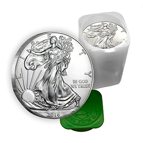 US Shipping 1 oz Silver American Eagle Coins BU (Lot, Roll, Tube of 20)