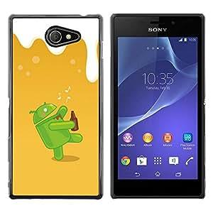 // PHONE CASE GIFT // Duro Estuche protector PC Cáscara Plástico Carcasa Funda Hard Protective Case for Sony Xperia M2 / Dunk Android /
