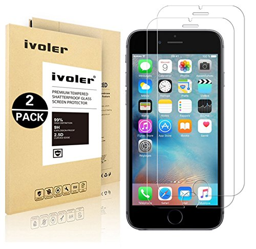 iVoler 0.2mm Ultra Thin 9H Hardness 2.5D Round Edge Tempered Glass Screen...