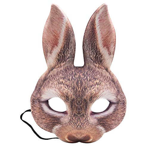 LoveInUSA Easter Bunny Half Mask Animal Adult Costume
