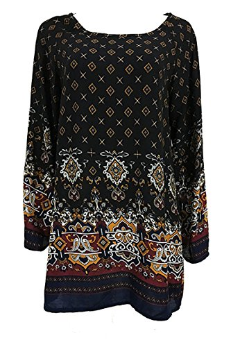 YMING-Womens-Bohemian-Vintage-Printed-Ethnic-Style-Loose-Casual-Tunic-Dress