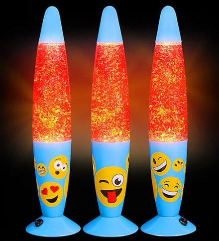 Emoji Faces Glitter Lava Lamp