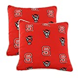 College Covers NCSODPPR North Carolina State Wolfpack Outdoor Decorative Pillow Pair, 16'' x 16'', Red