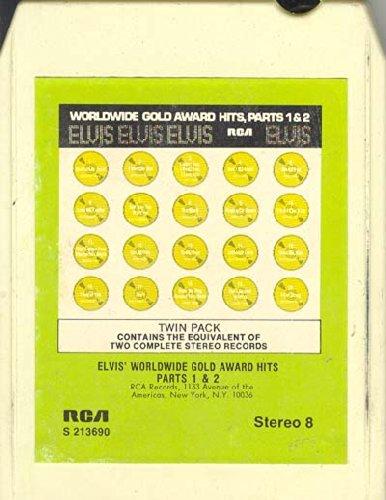 ELVIS WORLDWIDE GOLD AWARD HITS PART 1 & 2 (8-TRACK CARTRIDGE) (Elvis Worldwide Gold Award Hits Parts 1 2)