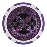 Brybelly Laser Inlay Poker Chips Heavyweight 14-gram Clay Composite - Pack of 50 ($500 Purple)
