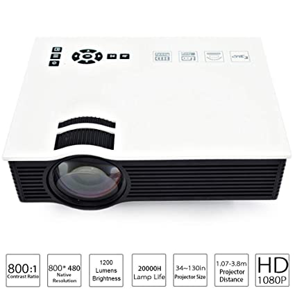 Amazon.com: QUARKJK Plus LED Projector Full HD 1080P 1200 ...