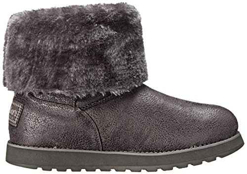 Ccl Plisadas Botas Mujer Gris Esque Keepsakes Skechers Leather para tqx7xI8w