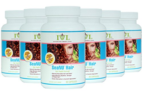 IVL - Seanu Hair - Hair Health Formula, 60 capsules (pack of 6) by Institute for Vibrant Living