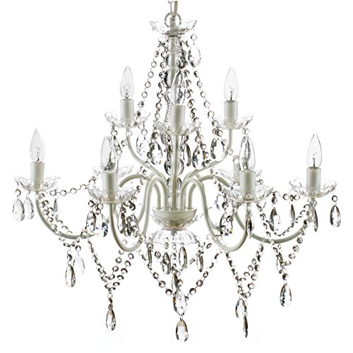 (The Original Gypsy Color Extra Large 9 Light Crystal Chandelier H26