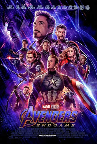 - AVENGERS ENDGAME MOVIE POSTER 2 Sided ORIGINAL INTL FINAL 27x40 BRIE LARSON