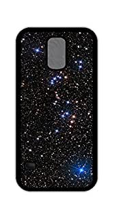 Print Hard Shell case for samsung galaxy s5 for men - Black and white constellation